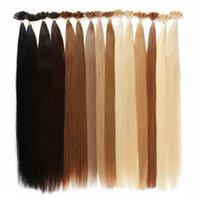 Top Grade U Tip Remy Extensions de cheveux Humains Brésiliens Extensions de cheveux préemballés Brésiliennes 50trands / Lot 14-26inch Grossiste Prix usine