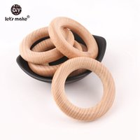 Let' s make 65mm 50pcs Wholesale New Size Teething Woode...