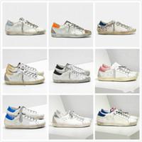 Cestas Golden Super Star Sneakers Sequin Classic White White Do-Old Sucio Sucio Diseñador Mujeres Casual Zapatos Hombre Moda Entrenadores Mejor Calidad
