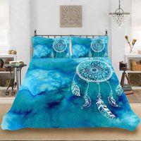 Yi Chu Xin 3D Dreamcatcher постельное белье Установите роскошный богемный пододеяльник набор постельное белье Полный размер кровать1