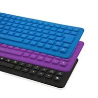 85 مفتاح USB مصغرة مرنة سيليكون للطي لوحة المفاتيح السلكية للكمبيوتر لنا قابلة للطي المحمولة السلكية الإنجليزية لوحة المفاتيح 1