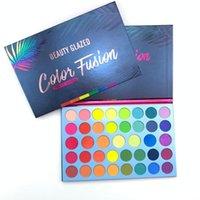 Göz Farı Güzellik Sırlı 39 Renkler Glitter Mat Göz Farı Paleti Floresan Gökkuşağı Disk Vurgulamak Maquillage TSLM2