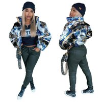 mujeres diseñadores ropa de abrigo de invierno 2020 Parka Wadded chaquetas de la cremallera de algodón acolchado cortavientos Puffer Coats Moda cortocircuito de la chaqueta