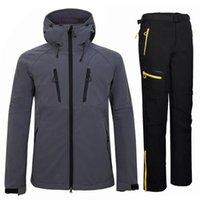 2021 Softshell Hiking Jackets Pants Men Windproof Waterproof...