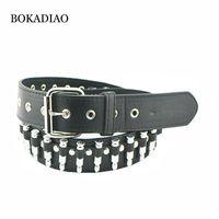 Bokadiao uomini cintura in pelle cinghia punk proiettili rivetto moda moto cinghie per le donne jeans di lusso jeans cinturino femmina cinturino di alta qualità Y200520