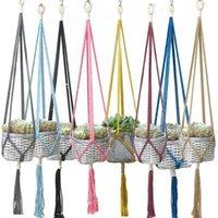 파종기 냄비 도착 다채로운 핸드 메이크 식물 옷걸이 꽃 냄비 트레이 트레이 1
