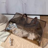 최신 2020 젤리 가방은 디자이너가 설계했습니다. 여성의 다채로운 휴대용 여행 가방, 하나의 어깨 해변 가방, 2 피스 세트