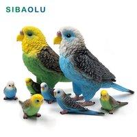 Oggetti decorativi figurine artificiale grande pappagallo uccello figurine animale modello bonsai home decor miniatura fata decorazione giardino accessor