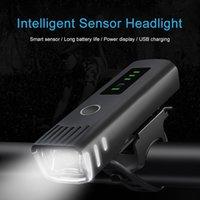 Lumières de vélo Smart Induction Bicyclette Avant Lumière USB Rechargeable Lampe arrière rechargeable LED Phare de vélo de vélo Cyclisme Flash-lumière