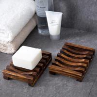 Banheiro Acessório Retro Wood Pia Plataforma Montagem Hollow Out Dish Titular Prateleira Drenagem Caixa de Soap drenagem