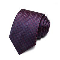 Bug Ties 2021 Marke Mode Hohe Qualität Männer 7 cm Rot Blume Muster Navy Blue Krawatte Formale Anzug Kühle Krawatte für mit Geschenkbox1