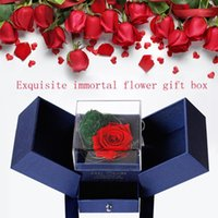 LED Light Eternal Flower Rose DIY Heart- shaped Moss Jewelry ...