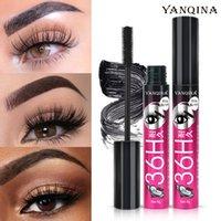 Yanqina 3D Soie Soie Fibre Silice Mascara Silice Noir 36h Effacement Efficace Empildable Curling Noir Mascara Cils Cosmétiques 0589
