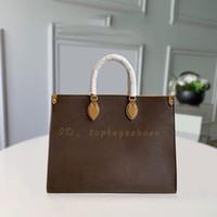 Buch Geldbörsen Luxurys Brand Designer 2020 heiße sold handtaschen Womens Original Mode 5A Big Bags Tote Braun Leder GraceFull Schulter L BNCB