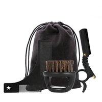 Классическая черная нержавеющая сталь Beard Beard Kitling Kit с Mini Beard Beard Beard Trimmer Cate Cate Kit