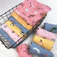 키즈 잠옷 의류 세트 소년 소녀 만화 인쇄 유아 PJS 여름 긴 소매 및 바지 어린이 홈웨어 Sleepwear1
