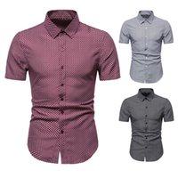 Camicie da uomo Nuova estate più grande per camicia da uomo piccola Gingham a maniche corte