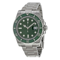15 tipos Top Cerámica Bisel Mens 2813 Verde Mecánico Automático Mecánico Sapphire Relojes Impermeables Deportes Auto-viento AAA Wristwatches