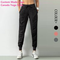 2020 Nova Apprival Womens Canadá Yoga Estilo Track Pants Projeto clássico Boa fibra joggings Sports dança empilhadas Calças