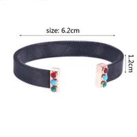 Nuovi spaghe Braccialetto del braccialetto dell'obbice inox 8 colori moda per le donne larga banda wesh gioielli polsini popolare nuova edizione in edizione spedizione