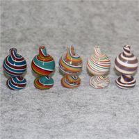 25 мм цветное цветное стекло пузырьки CAP CONSAH для плоских верхних кварц Banger Nails Nectar Collectors Water Bongs Pipe Dab