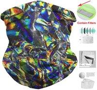 Многоразовая маска для лица многоразовая шея гайтс фильтр обледенения шелковые шарфы защитные инструменты Bandanna U.S.A Флаг Череп геометрический 7Мамный D2