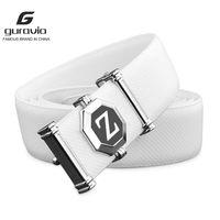 Guravio marca homens brancos de couro genuíno fashion liga material z fivela empresário homens jeans selvagem alta qualidade cintos y0121