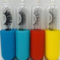 2021 Großhandel Kapsel Wimpern Pille Flasche Wimpern Tablett Set Multicolor Wimpern mit Paketkästen Einzigartige Wimpernspeicher Kostenloser Versand