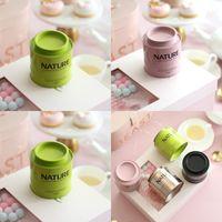 Yuvarlak Davul Gıda Depolama Tankı Saf Renk Alt Bisküvi Düğün Şekerleri Çay Potu Teneke Hediye Teneke Kutu 3 5YK J2
