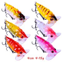 6 kleur gemengd 4 cm 4G cicade hard aas lokt vissen haken vishoeken 10 # haak pesca vissen tackle w148_235