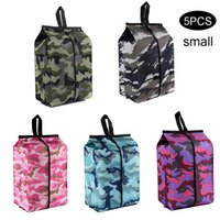 5pcs Oxford Cloth Travel Stereoscopic Storage Shoes Bag Camouflage Color Tote Zipper Strap Box Luggage Dust Waterproof Organizer