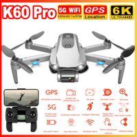 K60 Pro RC drone 5G GPS WIFI FPV avec 6K ESC HD Caméra 2 Axe Anti-Shake Gimbal Hélicoptère sans brosse Hélicoptère sans brosse