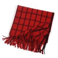 Шарфы 2021-слоя клетку расширенные теплые женские шарф моды мода двухсторонний студент имитация кашемировой утолщение двойного назначения Shawl1