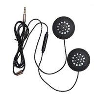Headsets Capacete de Motocicleta Headset Headset 3.5mm Jack fones de ouvido fones de ouvido fones de ouvido com microfone HD para Inter1