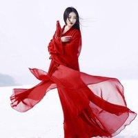 Palco desgaste antiga fantasia chinesa roupas roupas tradicional hanfu tang dinastia dinastia dança trajes folk fada vestido vermelho outfits1
