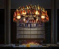 Retro Creative Industrial Style Restaurant E27 lampadina lampada a sospensione lampada a tre strati a tre strati di colore lampada di illuminazione in ferro
