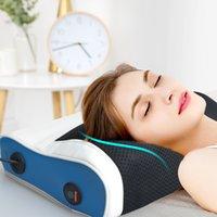 Chauffage électrique Massage oreiller mains libres à l'épaule sans pare-oreiller relaxation coussine pignon ponte thérapie col de cervical masseur 201104