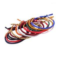 Charme bracelets bouddhistes tibétains chanceux nœud femmes hommes multicolores rouge bleu orange gris pique tressé amitié ajustable bracelets1