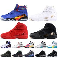 scarpe nike air jordan 8 retro 8 8s Doernbecher OVO Jumpman scarpe da basket da uomo cromo di san valentino bianco nero formatori da uomo scarpe da ginnastica