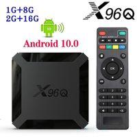 X96Q Android 10.0 TV Box Allwinner H313 2GB + 16GB دعم 2.4 جرام wifi pk tx3 h96 ماكس caja de tv android