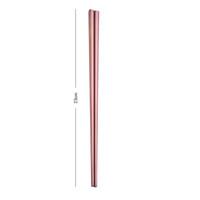 304 Pauzinhos de Aço Inoxidável Chopstick Chopstick Home Hotel Simples Style Talheres 23 * 7cm Gwe6151