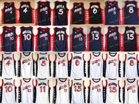 1996 Dream Trois Jerseys Basketball Charles 4 Barkley Penny 6 Hardaway Hakeem 15 Olajuwon Jersey College Scottie 8 Pippen Karl 11 Malone