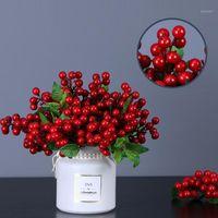 7 шт. Симуляторная пена небольшая ягодная фотография реквизиты домашнего декора цветок расположение рождественские украшения черника фрукты красная ягода1