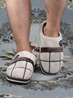 الرجال المنزل النعال الشتاء بالاضافة الى حجم 45-50 المنزلية الأزياء القماش القطني الدافئ مريح النعال داخلي على الذكور أحذية نوم قصيرة القطيفة 201105