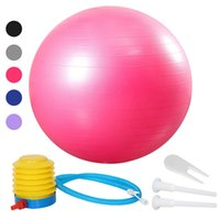 55/65 / 75cm Yoga Gymnastikball Pilates Fitness Gym Gleichgewicht Fit Ball-Antistoß-Rutschhemmende Balance Ball für Fitness-Training