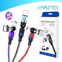 Magnetische USB Typ C Kabel 3FT Magnetdraht Cord Upgraded 6Ft 540 ° Rotation Ladelinie für Galaxy Note20 A21S mit Kleinpaket xMaster