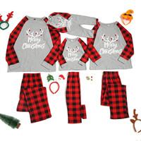 Familias de Navidad Pijamas Set Ropa de Navidad Padre-niño Traje Home Sleepwear New Baby Kid Papá Mamá Mapa Combinando Trajes Familiares LJ201110
