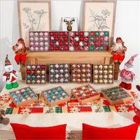12 Color 16pcs set 6cm Christmas Decoration Balls Shatterproof Hanging Christmas Tree Ornaments Wedding Party Home Xmas Decoration