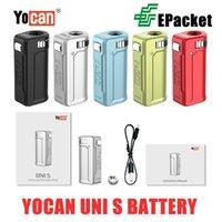 Аутентичные yocan Uni S Box Mod 400 мАч предварительно нагрев VV вариабельный напряжение аккумулятор с магнитным адаптером 510 5 цвет для толстого масляного картриджа EPACKET