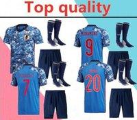 çoraplar 2020 milli takım Japonya HONDA yetişkin Futbol Jersey tam kitleri 2021 Kagawa Okazaki Erkekler futbol forması kiti